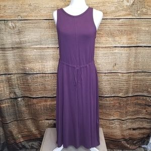 The Limited French Terry Purple Hi Lo Dress Med